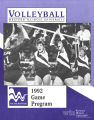 Women's Volleyball 1992 Program