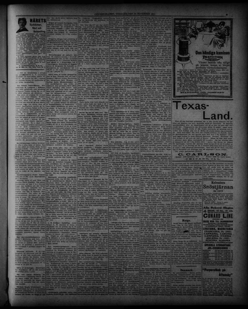 1911 11 14 Chicago Bladet Chicago Bladet Trinity International University Carli Digital Collections