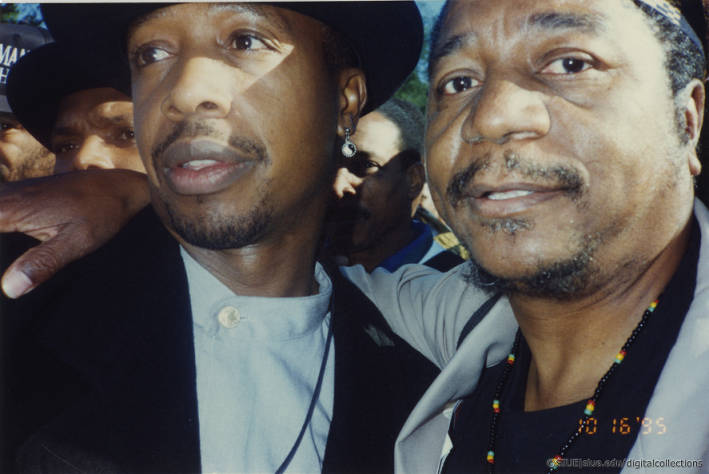 MC Hammer and Eugene B. Redmond at Million Man March