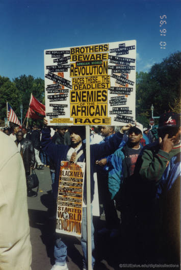Signs at Million Man March